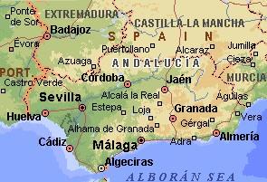 Seville carte d espagne   Photo du monde